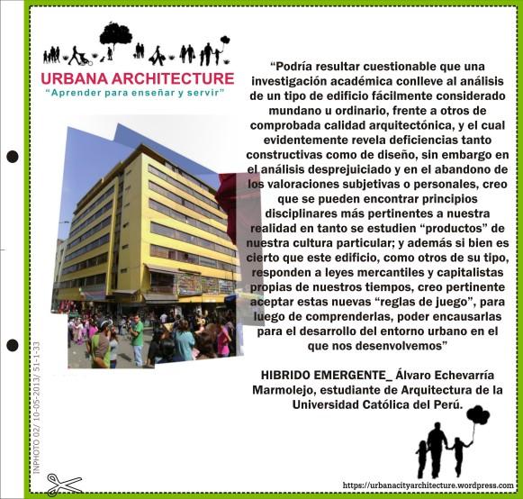 URBANA ARCHITECTURE: HIBRIDO EMERGENTE
