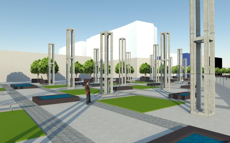 Plaza de la Cultura: a nivel peatonal.